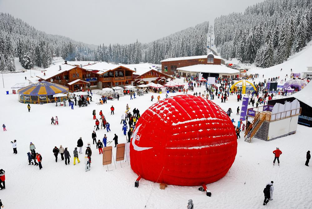 Ски зона по време на съзтезанията