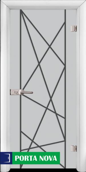 1. Снимка на Стъклена интериорна врата, Gravur G 13 - 5