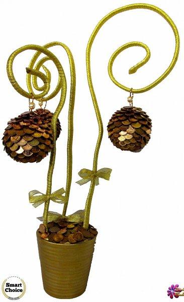 2. Снимка на Сувенир - Декоративно дърво на парите и изобилието - 55 см