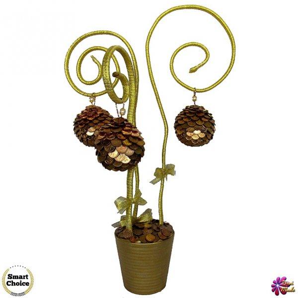 1. Снимка на Сувенир - Декоративно дърво на парите и изобилието - 55 см