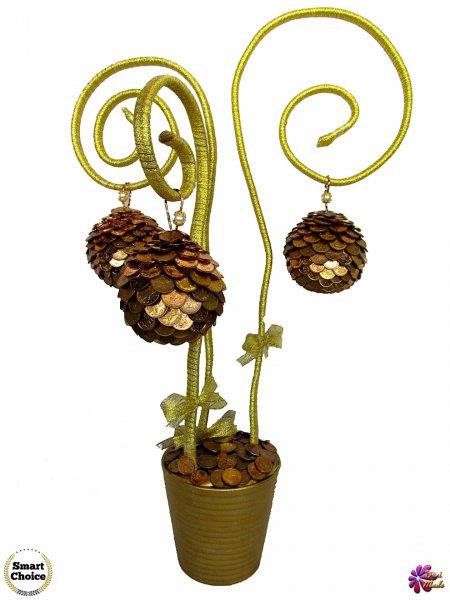 3. Снимка на Сувенир - Декоративно дърво на парите и изобилието - 55 см