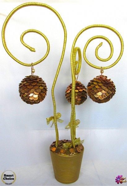 4. Снимка на Сувенир - Декоративно дърво на парите и изобилието - 55 см