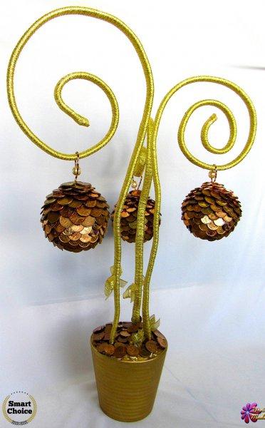 5. Снимка на Сувенир - Декоративно дърво на парите и изобилието - 55 см