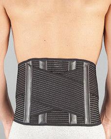 1. Снимка на Лумбостат корсет с анатомични шини - черен