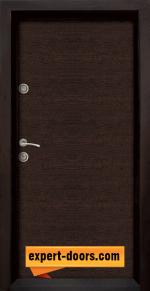 1. Снимка на входна блиндирана врата модел Ale Door 403 венге