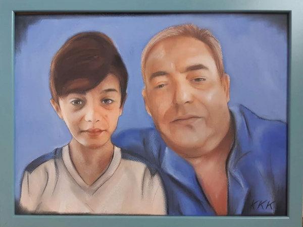 9. Снимка на Ръчно рисувани портрет или карикатура ШАРЖ по снимка